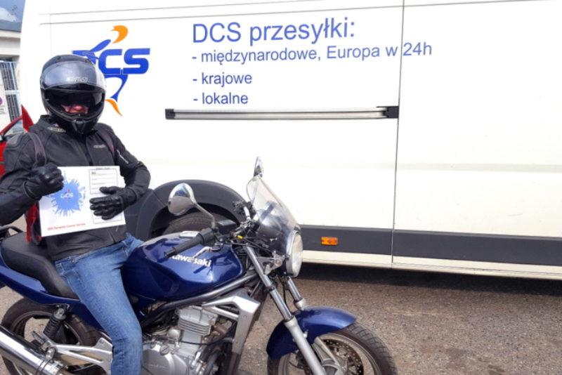 dowóz motocyklem